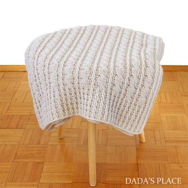Easy to make crochet cable blanket by Dadas place 3
