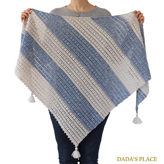 Crochet pattern Felicity shawl by Dadas place 3