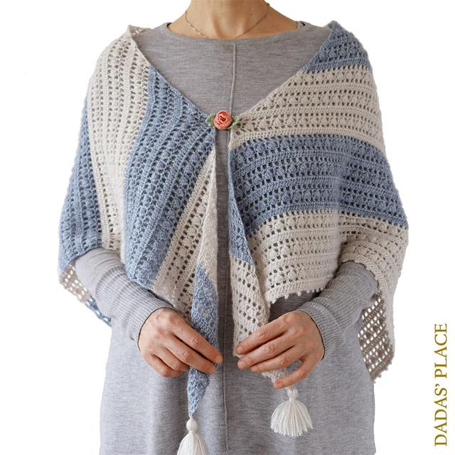 Crochet pattern Felicity Shawl by dadas place 1