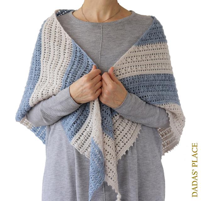 Crochet pattern Felicity shawl by Dadas place 7