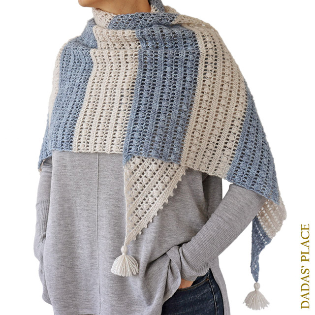 Crochet pattern Felicity shawl by Dadas place 2