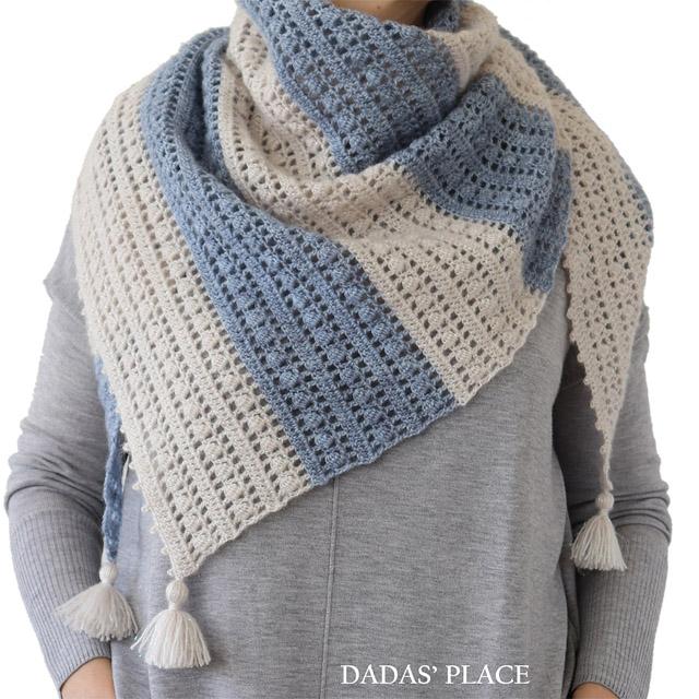 Crochet pattern Felicity shawl by Dadas place 6
