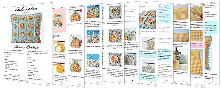 Flowery Crochet Cushion-sheets